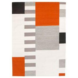 Linie Design Graphic Orange Rug With