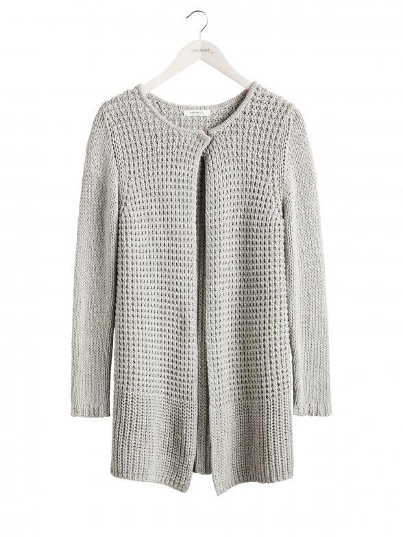 Sandwich fashion Fall '16 - Cardigan - Soft Pebbles