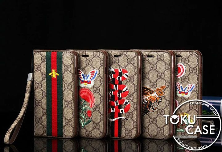 huge discount 47ae3 48bc9 GUCCI iPhone7ケース 手帳 iPhone7 PLUSケース グッチ iphone8 ...