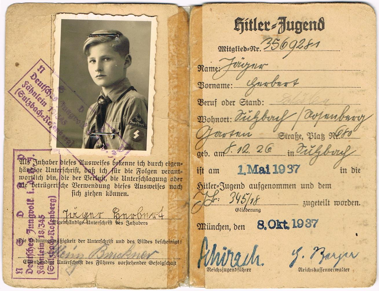 000 HitlerYouth ID World war two, Military history, War