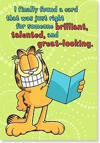 Birthday Card So I Decided To Keep It And Give You This One Paws Inc 48368 Leanin Tree Garfield And Odie Garfield Cards
