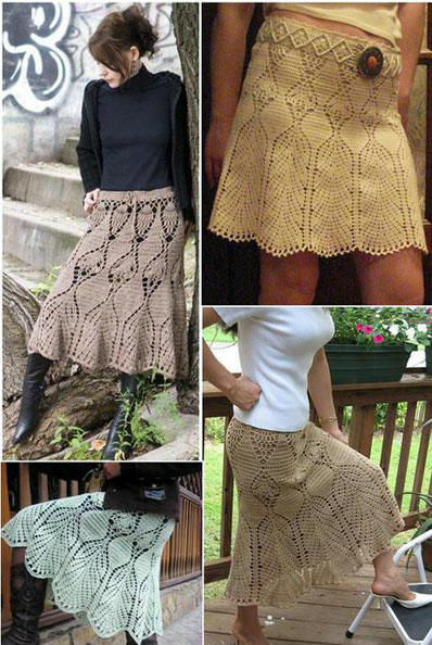 Crochet skirts ♥LCS-MRS♥ with diagrams----Patrones Crochet: Faldas ...