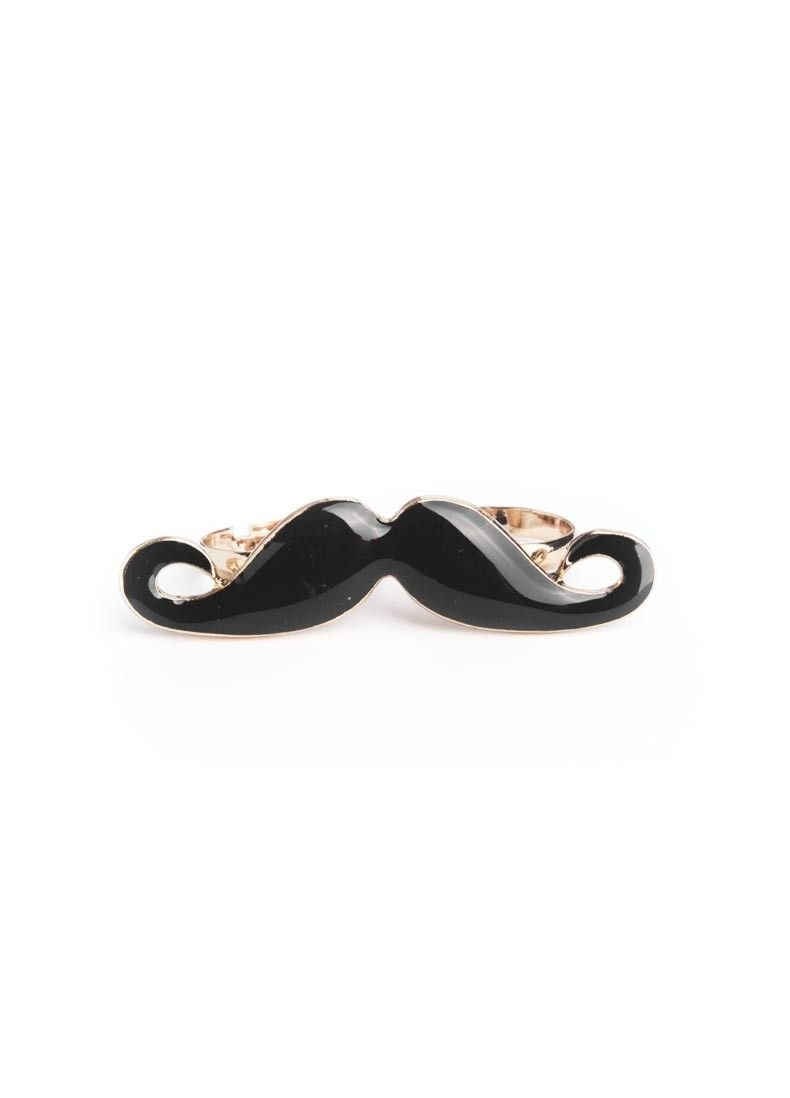 Penny Bag Moustache Ring