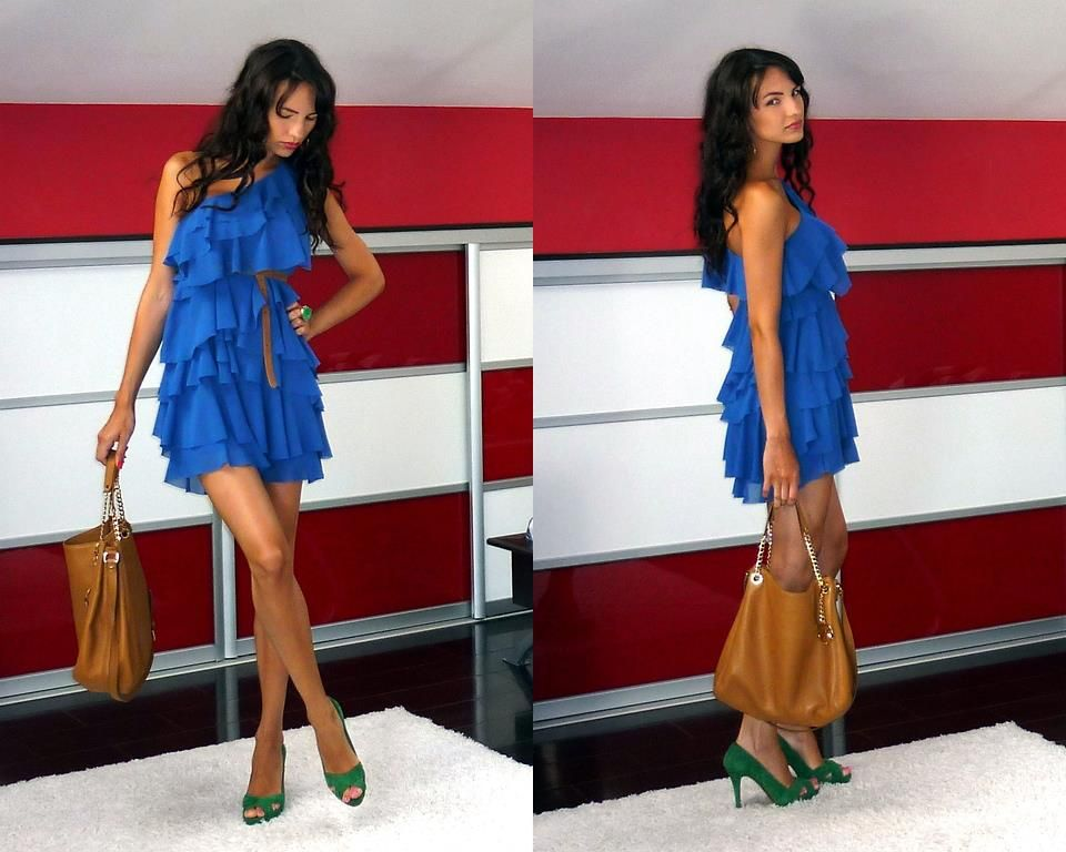 Love the color, super pretty! Wouldn't be caught dead in those shoes though :)