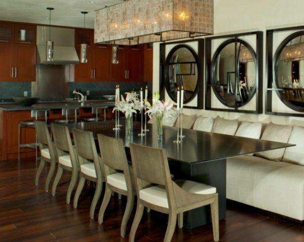 Contemporary Dining Room Chandelier Entrancing Longdiningtablechandelierlighting  Chairs Lighting And Design Ideas