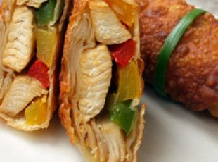 Chicken and Pepper Egg Rolls Recipe