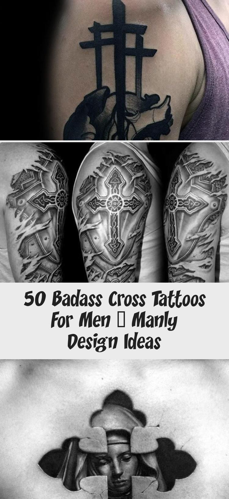 Badass Cross Tattoos : badass, cross, tattoos, Sleeve, Tattoos