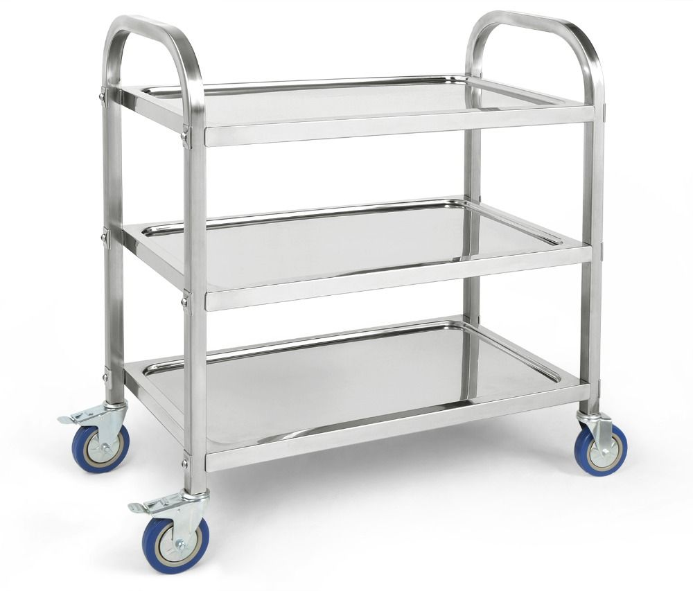 Awesome HLC Stainless Steel 3 Tier Heavy Duty Kitchen Trolley Multifunction Utility  Kitchen Storage Cart With