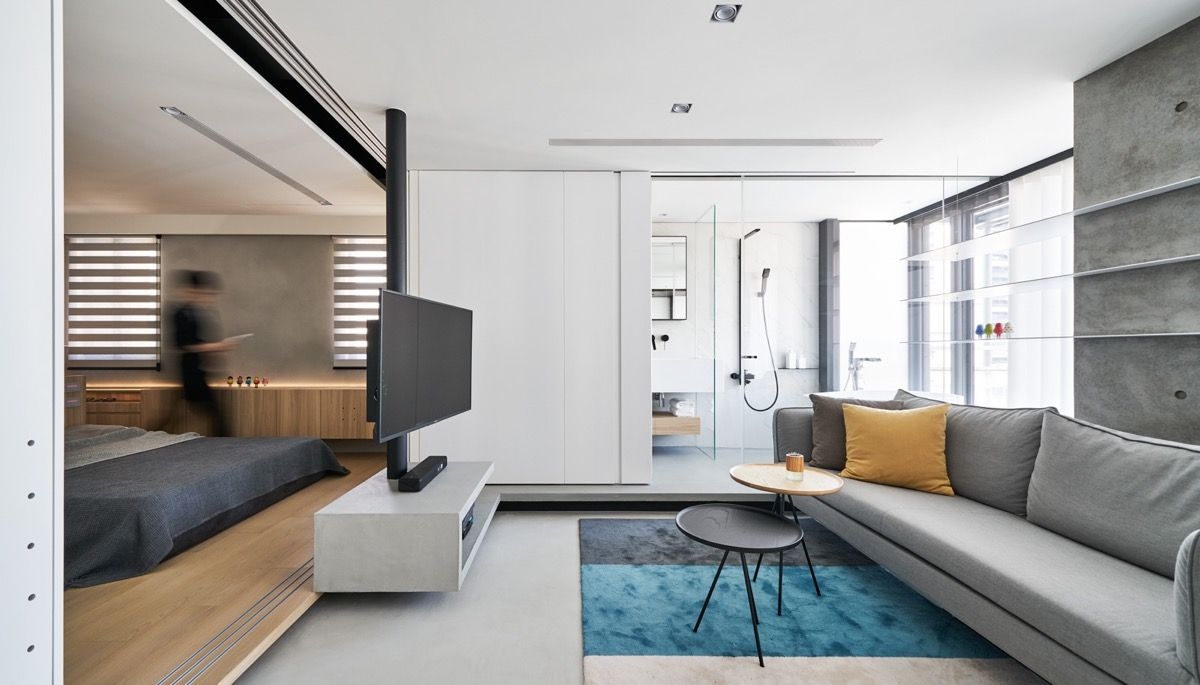 True Open Plan Apartment Under 50 Square Meters 500 Square Feet