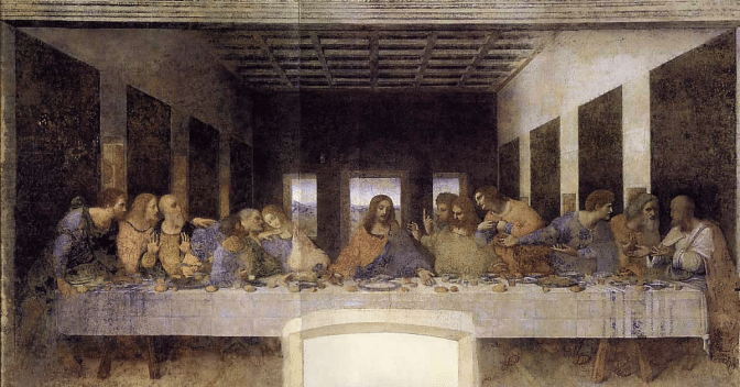When DaVinci went in search of models for the last supper, something very strange happened.