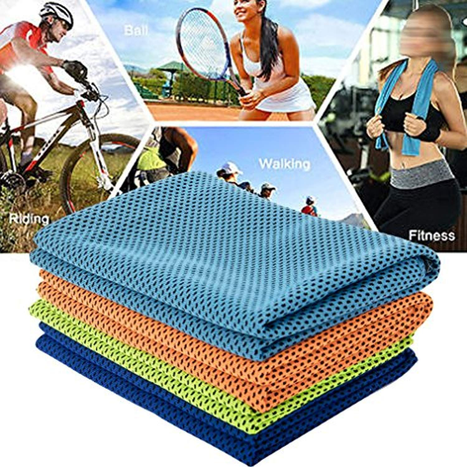 Cooling Towel For Instant Relief Cool Bowling Fitness Yoga
