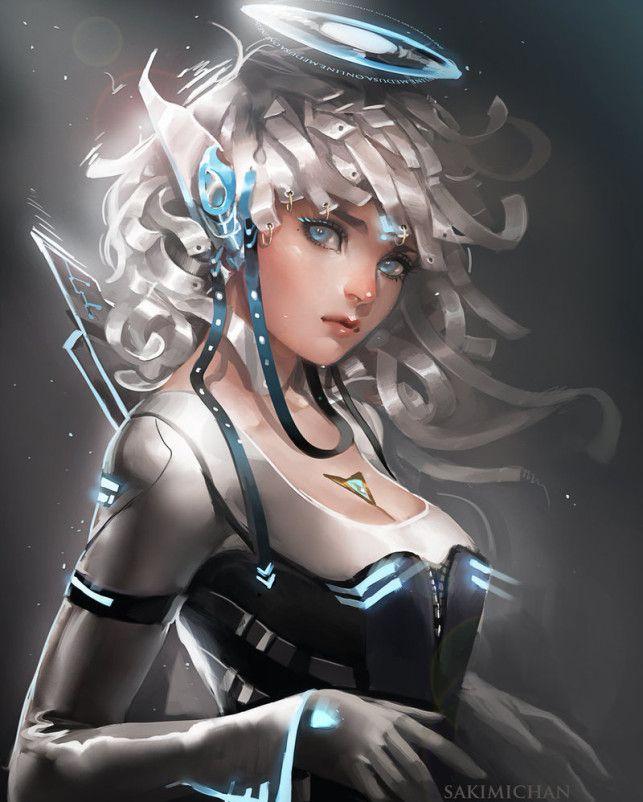 Digital Anime And Manga Paintings By Sakimichan Inspirational Digital Art Sakimichan Art Robot Girl