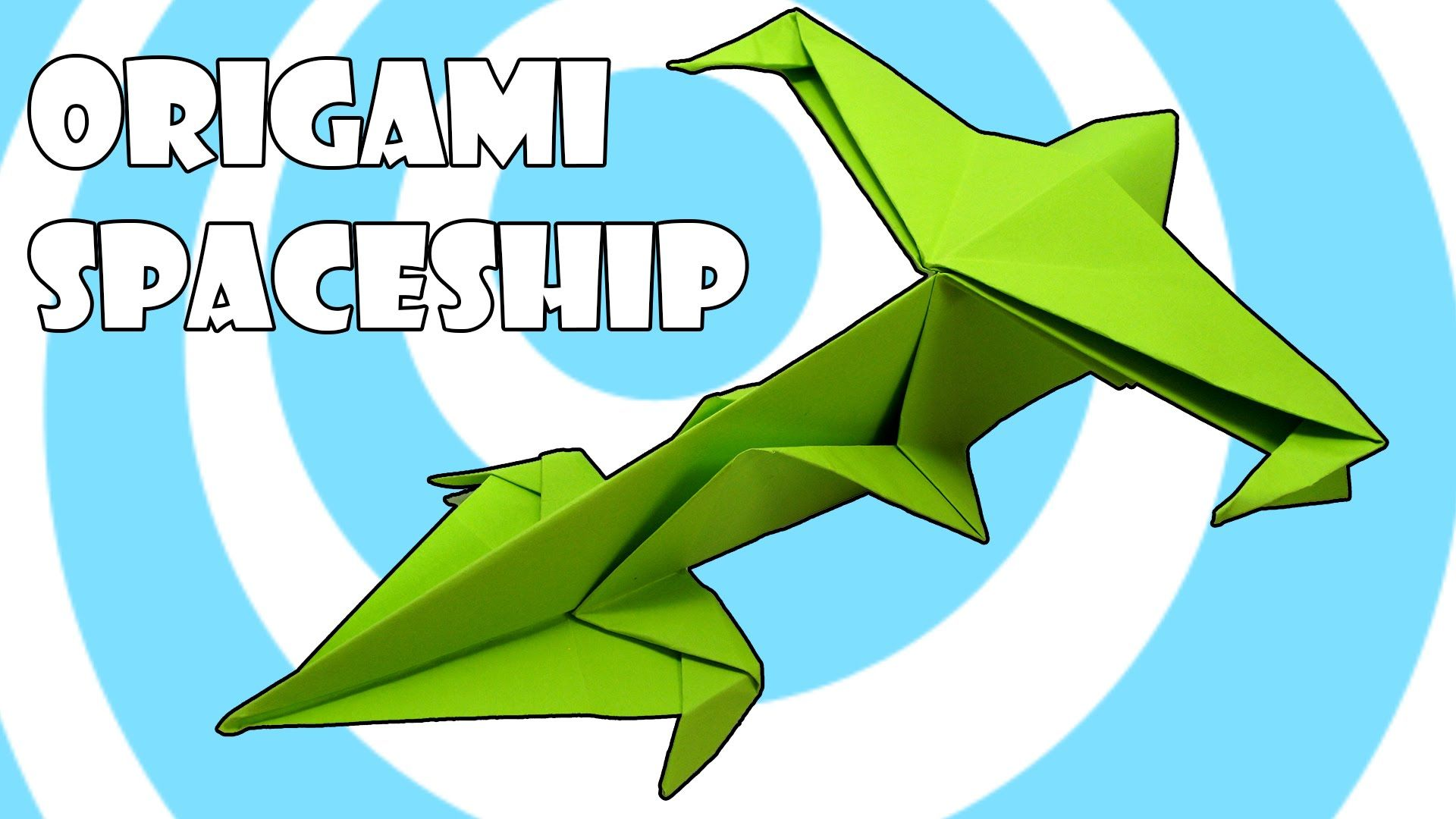 Origami Spaceship Fighter Tutorial Origamite