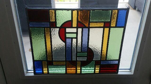 Art Deco Stijl : Glas in lood voorzetraam in art deco stijl stained glass