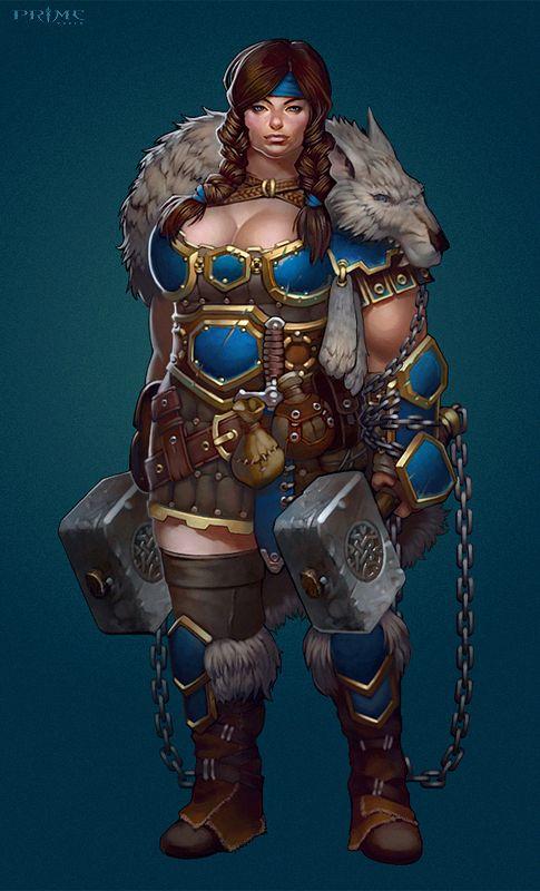 Female Dwarf Warrior Dd Races Dwarves Female Dwarf Fantasy