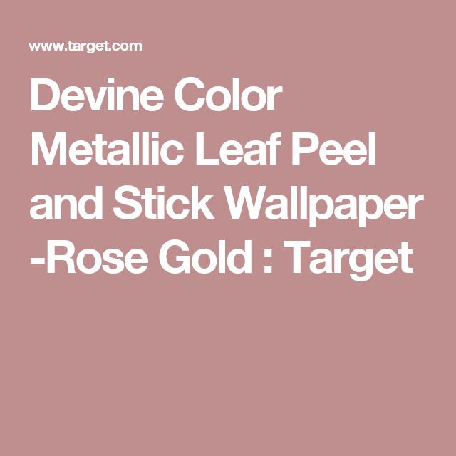 Metallic Leaf Peel Stick Wallpaper Pink Project 62 Peel And Stick Wallpaper Pink Projects Wallpaper Project