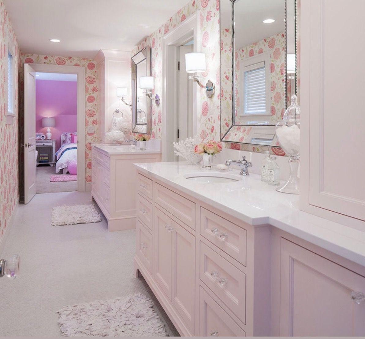 Jack n jill bathroom for girls  Girls bathroom design, Girl