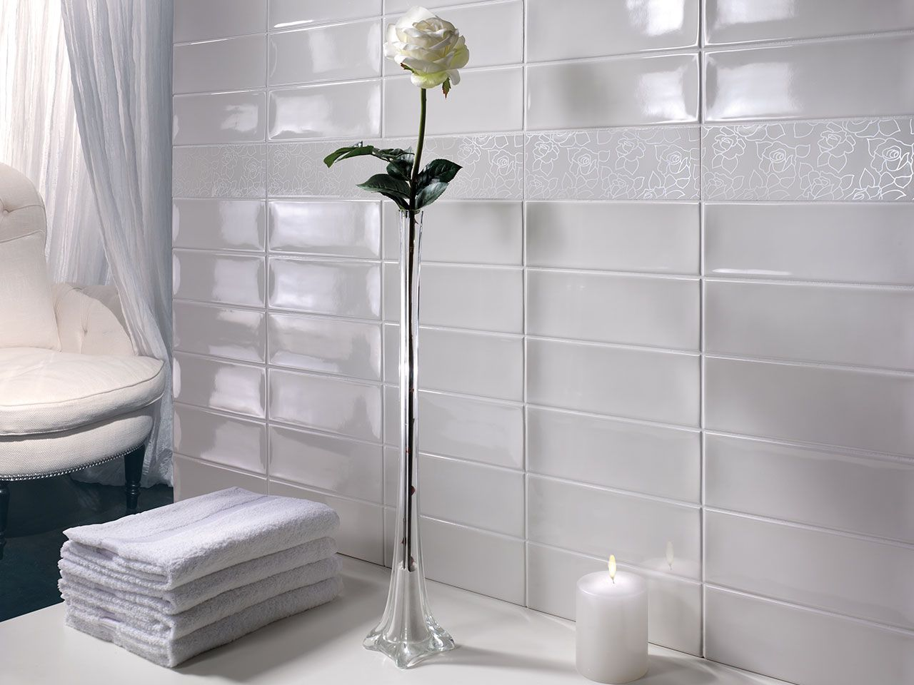 Bagno Bianco ~ Fascia jersey bianco 10x30 iperceramica bagno pinterest