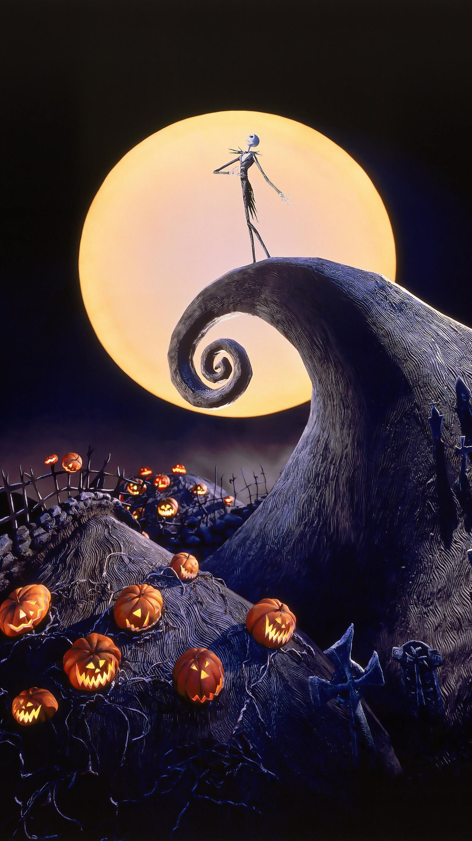 The Nightmare Before Christmas 1993 Phone Wallpaper Moviemania Nightmare Before Christmas Wallpaper Halloween Wallpaper Iphone Halloween Wallpaper