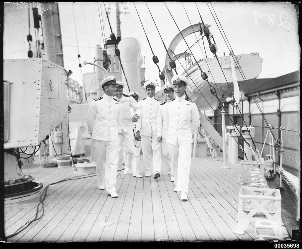 Royal Indian Navy Officers On The Deck Of Hmis Hindustan In Sydney Royal Indian Indian Navy Navy