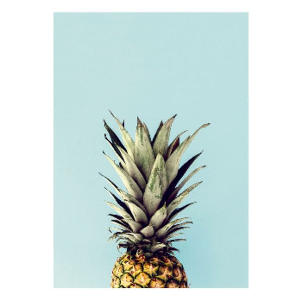 Pineapple A1 Framed Print (439300 COP) ❤ liked on Polyvore