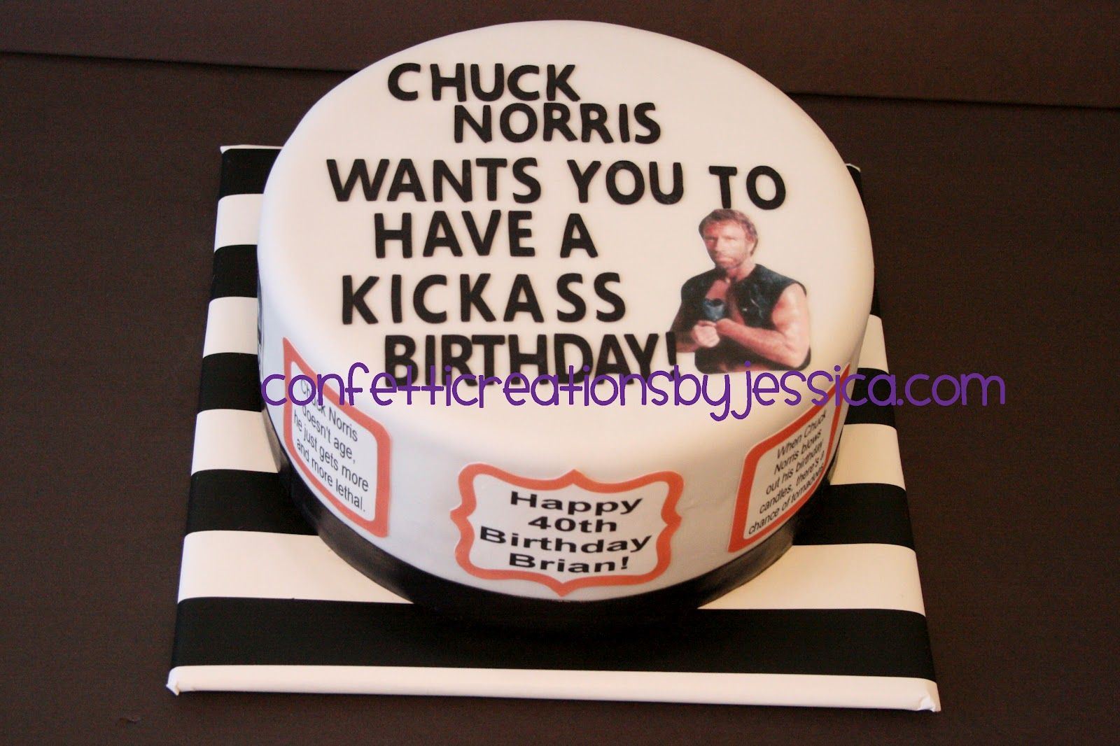 Super Chuck Norris Birthday Cake 01 With Images Chuck Norris Personalised Birthday Cards Sponlily Jamesorg