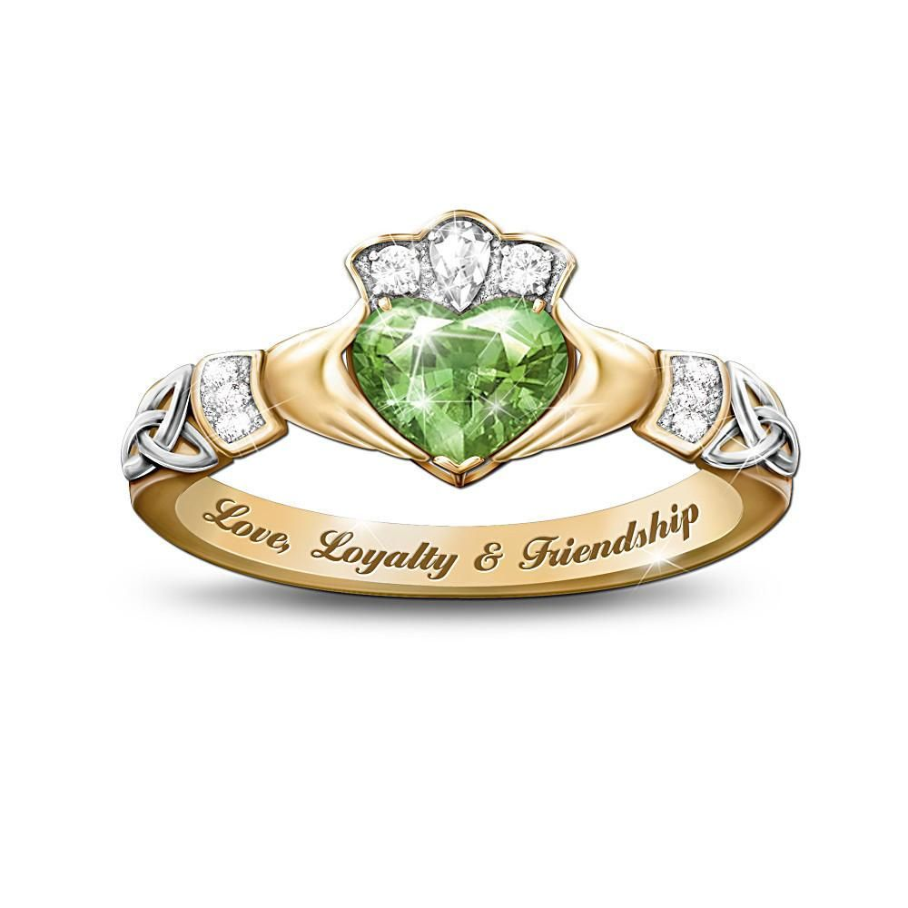love, loyalty and friendship Women rings, Claddagh