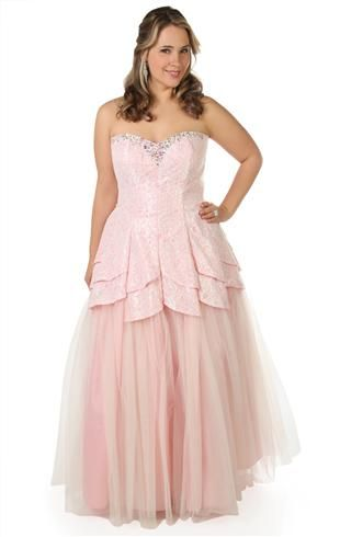 DEBS plus size all over lace prom dress with a tulip tulle ball gown ...