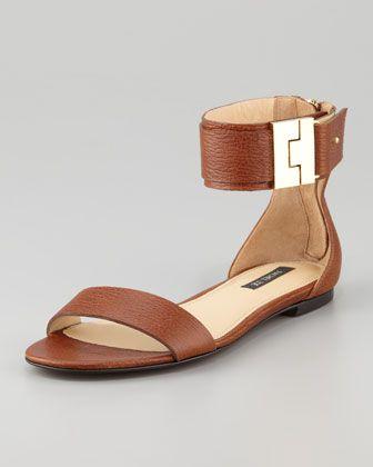646c719901f84 Glady s Leather Flat Sandal