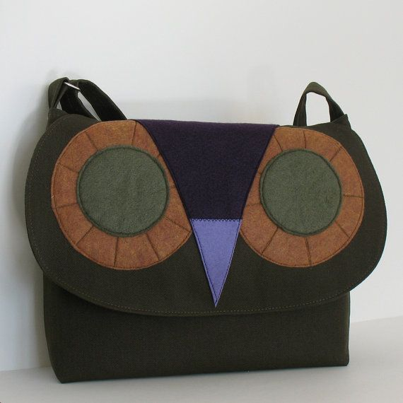 579c014a47 Owl messenger bag