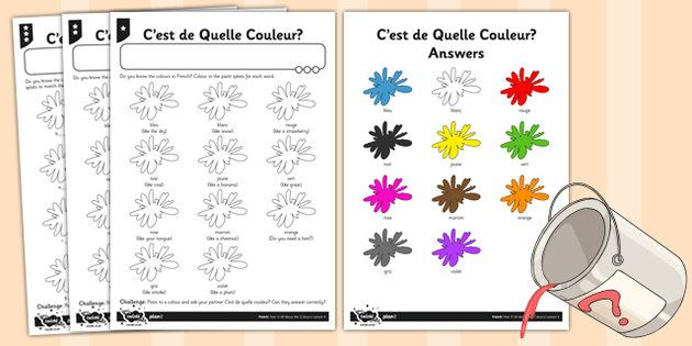 french colours activity sheet french activity colours sheet huh french colors color. Black Bedroom Furniture Sets. Home Design Ideas
