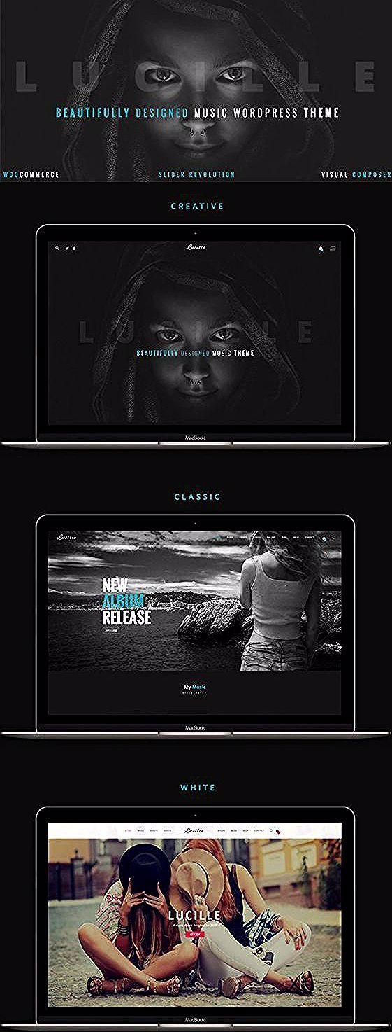 Music WordPress Theme A beautifully designed music website template with a fully responsive design ideal for musicians artists bands singers producers radio stations and...