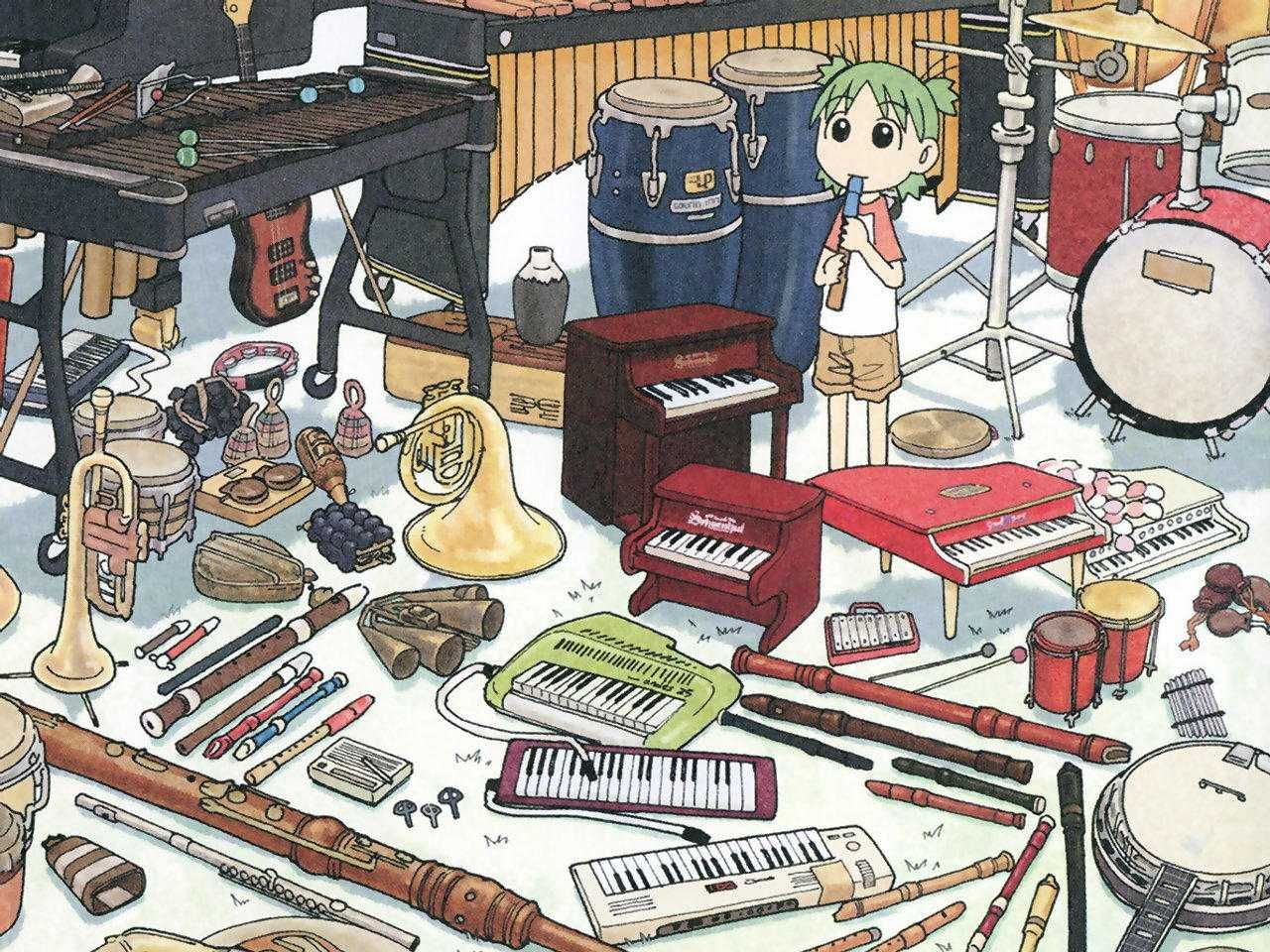 Yotsuba Wallpaper | 1280x800 | ID:56318 - WallpaperVortex.com