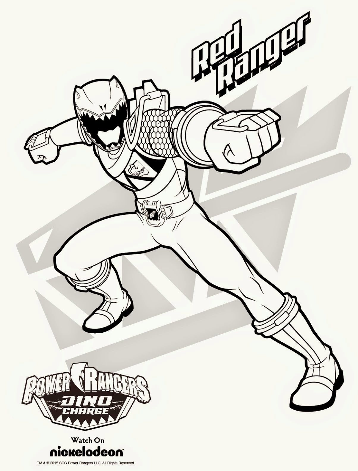 Power Rangers Samurai Gold Ranger Coloring Pages