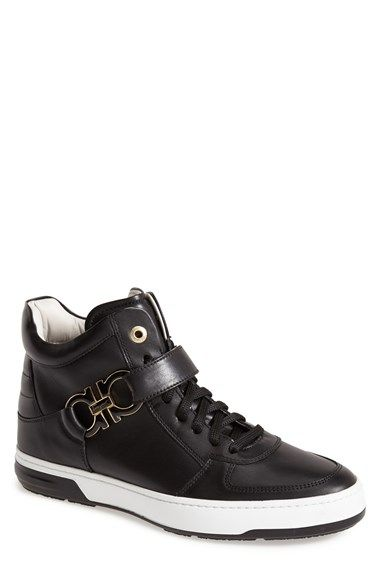 bc133fca893 Salvatore Ferragamo  Nayon  High Top Zip Sneaker (Men) available at   Nordstrom
