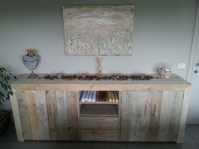 Steigerhouten dressoir model Cuijk. http://www.meubels-van ...