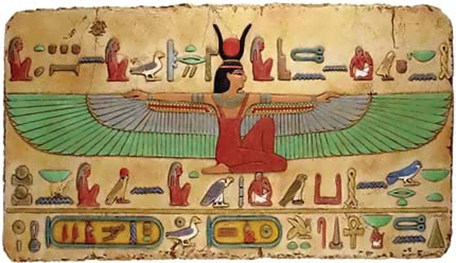 Isis /& Osiris~counted cross stitch pattern #1173~Egyptian People Fine Art Chart