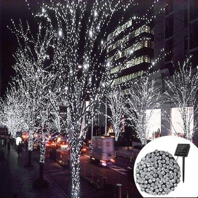 YWXLight 12M Waterproof Solar String Light for Outdoor Christmas - solar christmas decorations