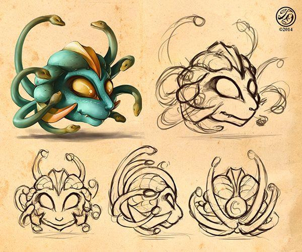 Medusa Character Design on Behance