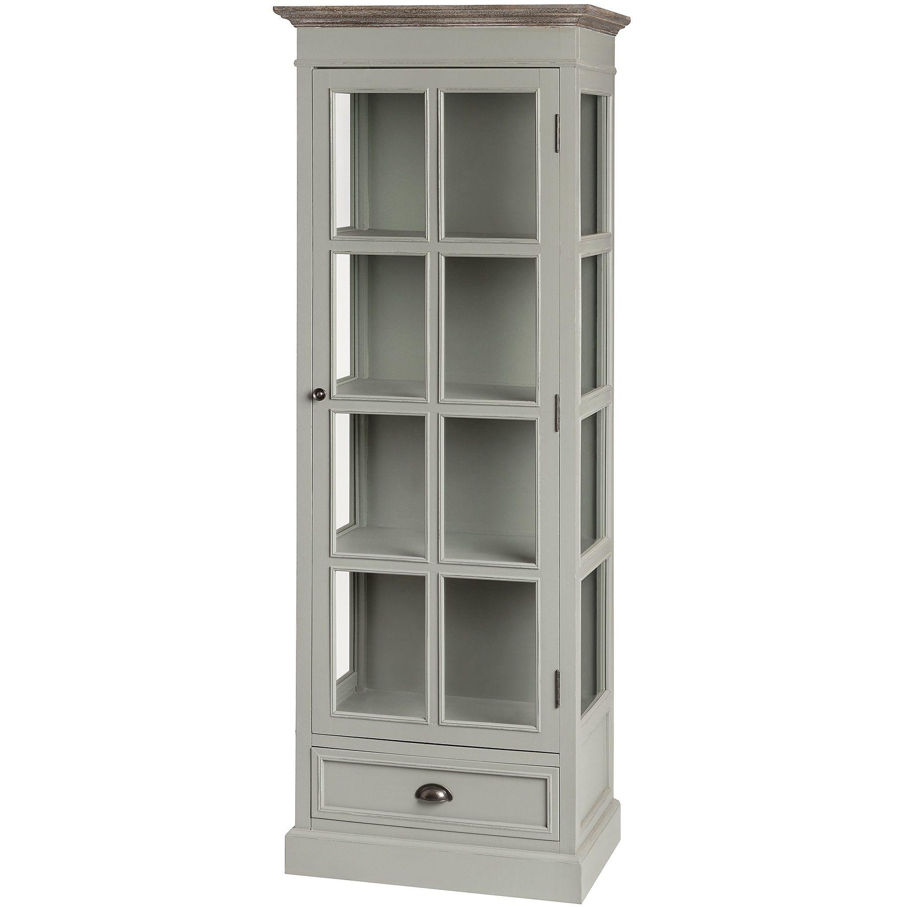New Lyon Tall Glazed Display Cabinet