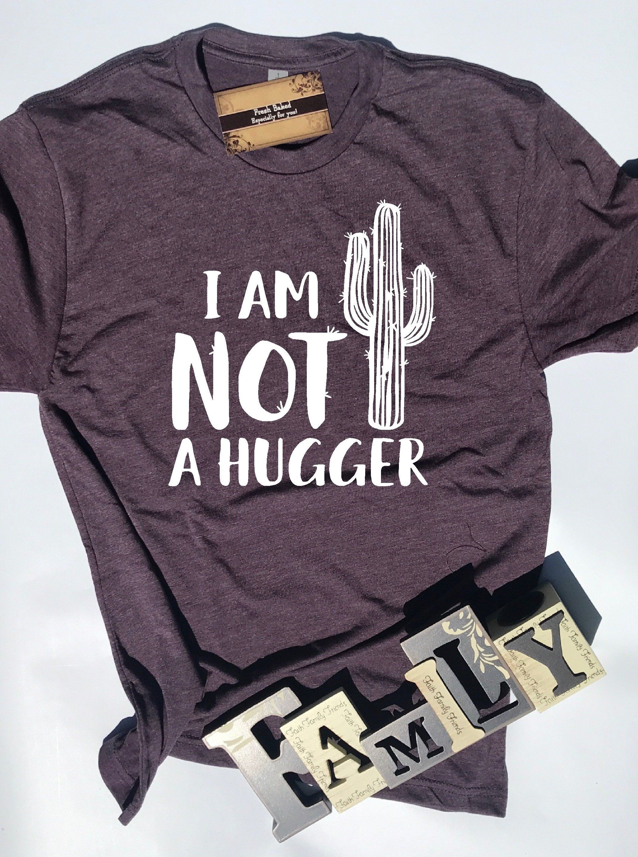 cb1bf963649ec Glitter I am Not a Hugger Shirt | Women's Shirts | Mom TShirts | Fun ...