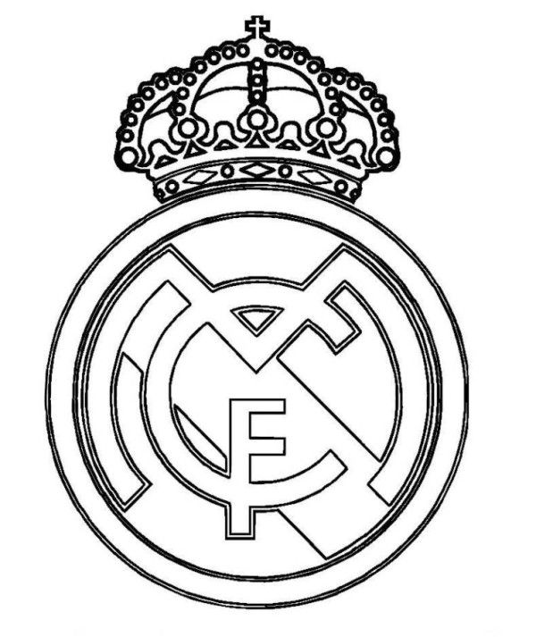 Real Madrid Logo Soccer Coloring Pages Kindergeburtstag Pinterest