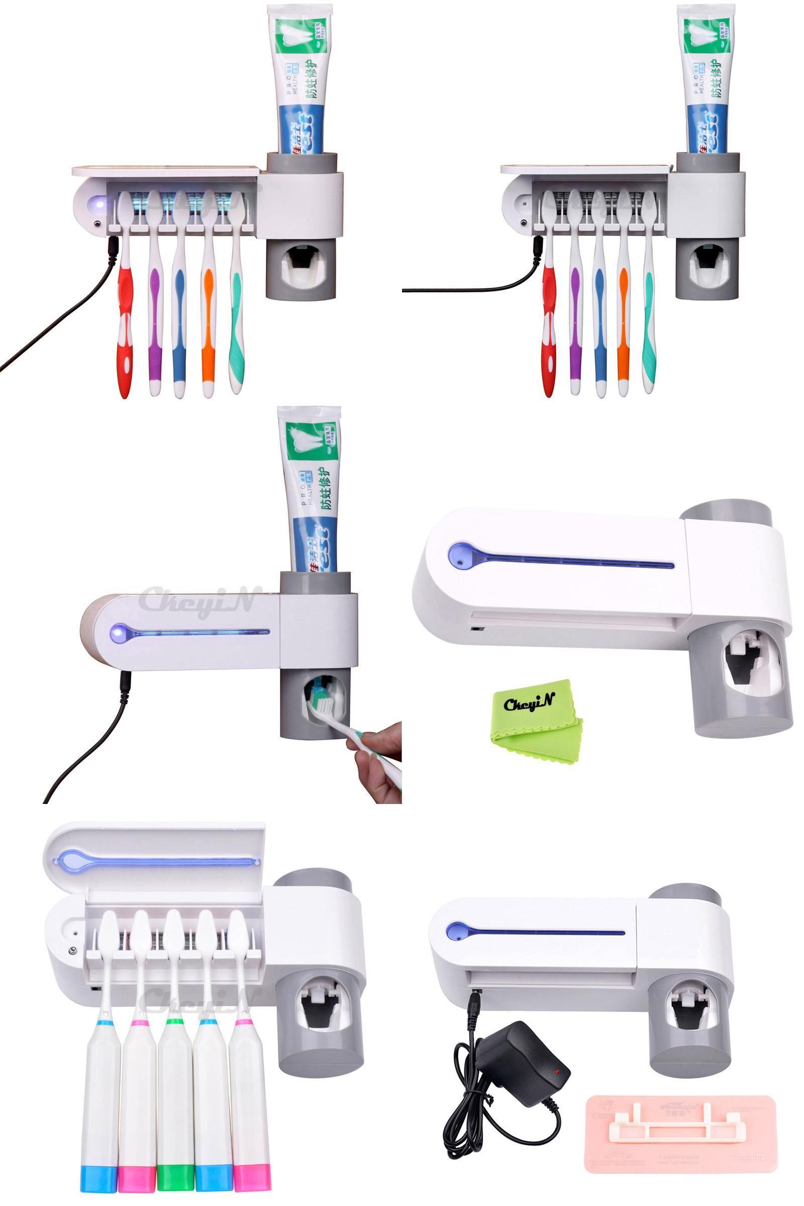 UV Light Sterilizer AntiBacteria Toothbrush Holder
