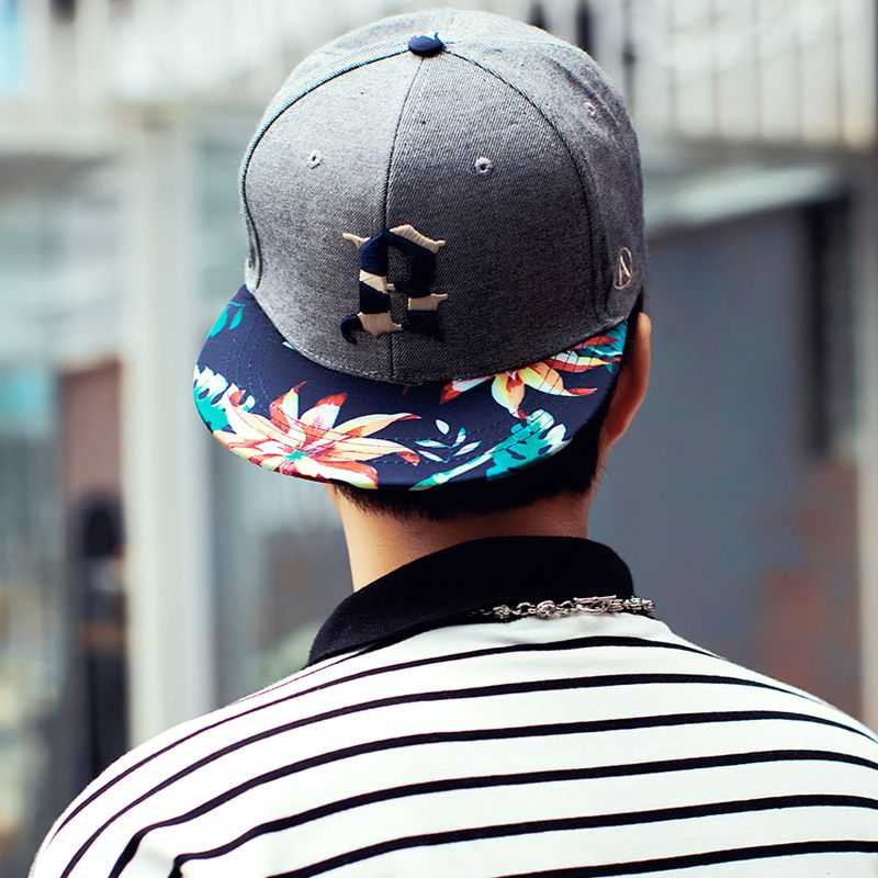 31e256cab97f Cotton Breathable Quality Geometric Embroidery Cap Man Flower Dark ...