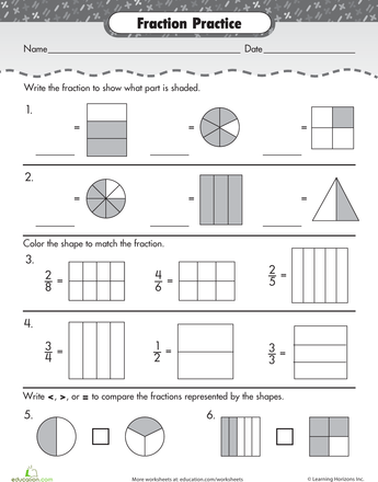 Fraction Review Worksheet Fracciones Pinterest Worksheets