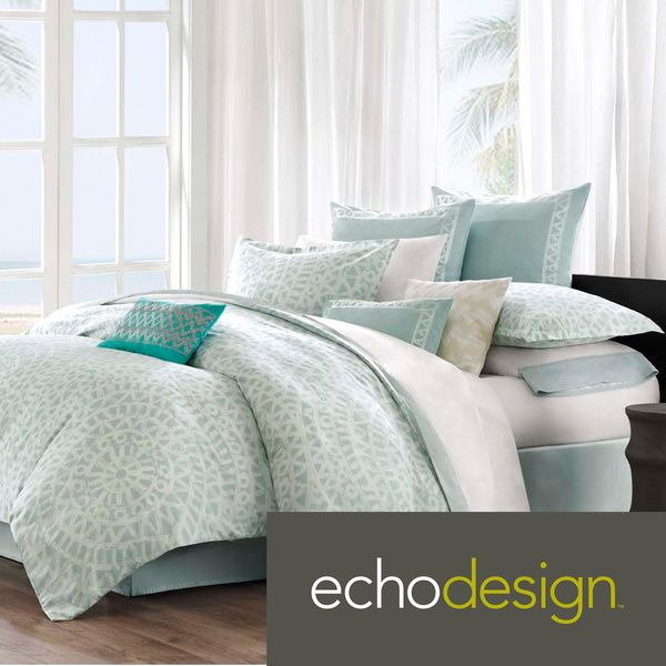 Echo Design Mykonos 300 Thread Count Cotton 3 Piece Comforter Set