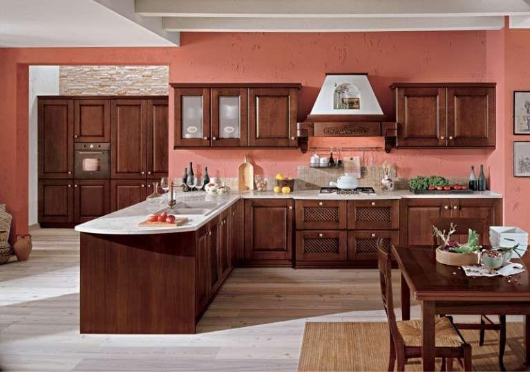 Abbinamento colori pareti cucina - Abbinamento rosa e legno