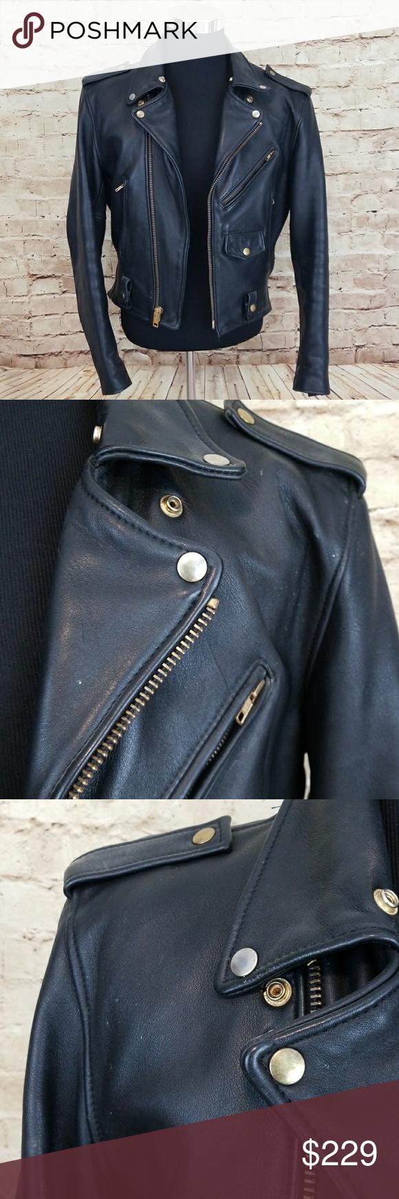 Vintage STEINMARK Leather Moto Jacket Fashion, Clothes