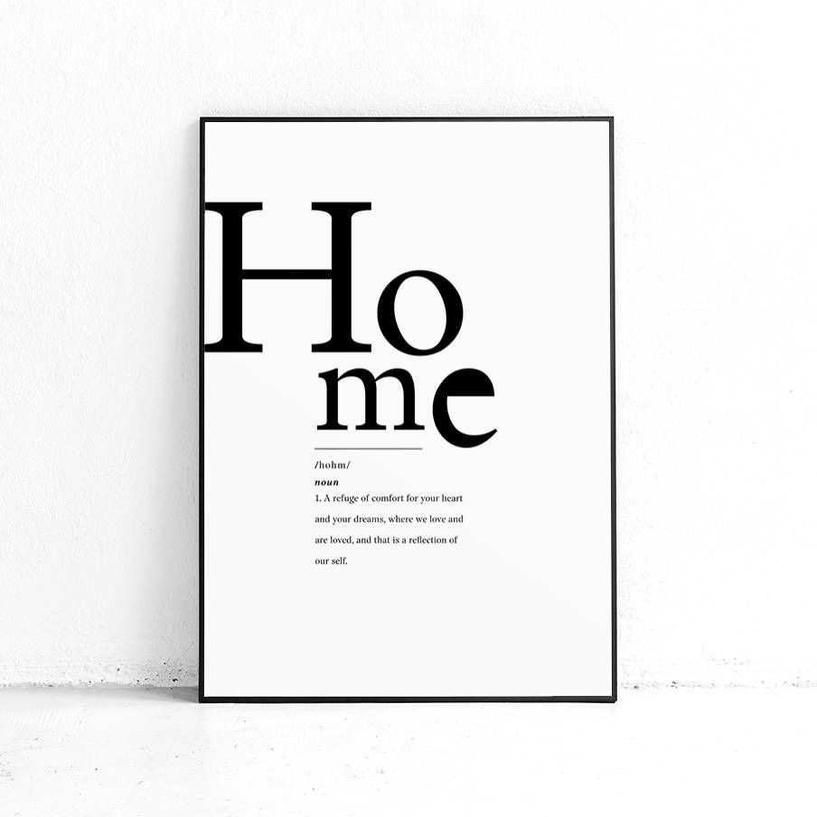 Home Definition Printable Wall Art, Definition Print, DIY Modern
