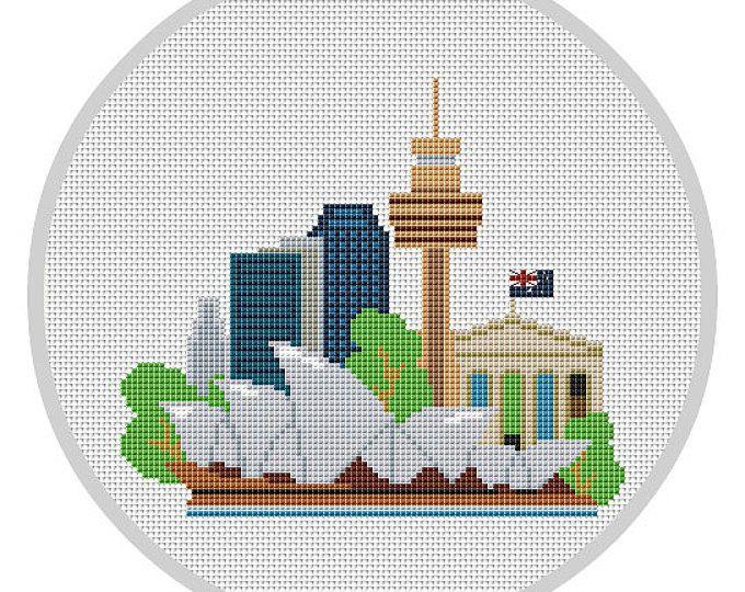 Modern Cross Stitch Pattern Pdf Sydney Australia Modern City